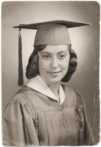 My mom at her High School Graduation