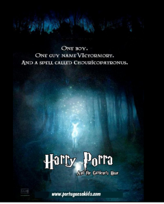 Poster of HP's Patronus rewritten if JK Rowling was really Portuguese.